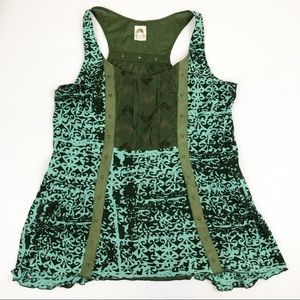 TINY Anthropologie Green Tank